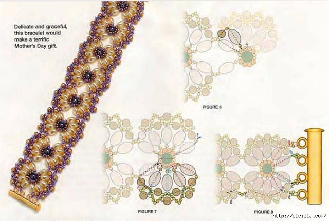Схемы плетения красивых украшений из бусин и бисера.