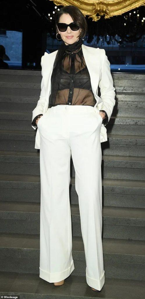 Короткая стрижка Моники Белуччи произвела фурор на миланской Неделе моды