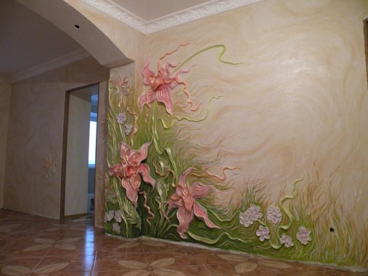 Художественная отделка стен