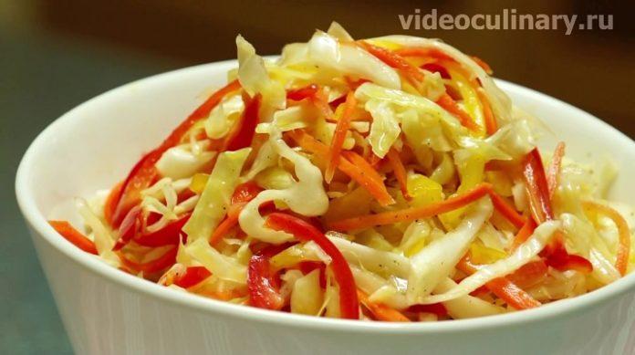 Вкусный салат по-фанагорски с капустой