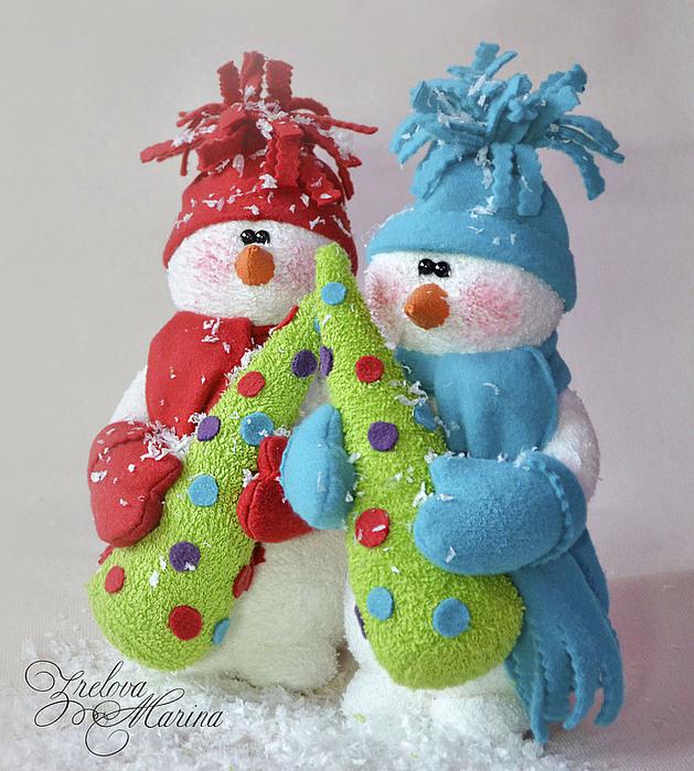 Игрушки своими руками снеговик из