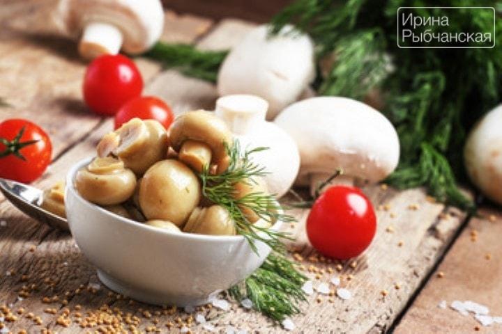 Шампиньоны маринованные в домашних условиях — лучшие рецепты быстрого приготовления