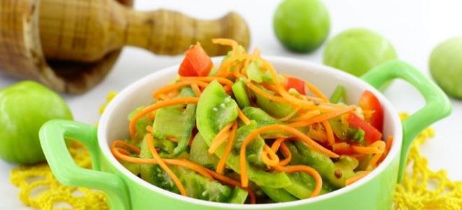 салат из зеленых помидор по корейски