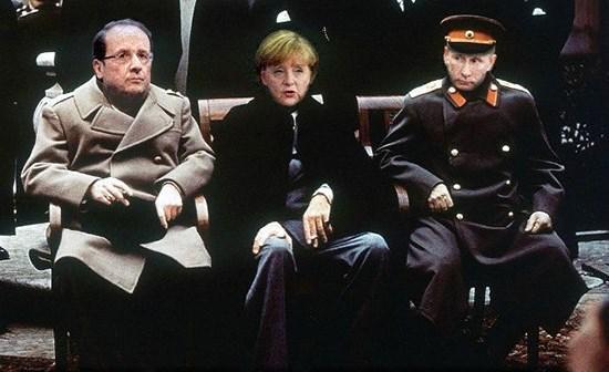 Встреча Путина с Оландом и Меркель. Как это было