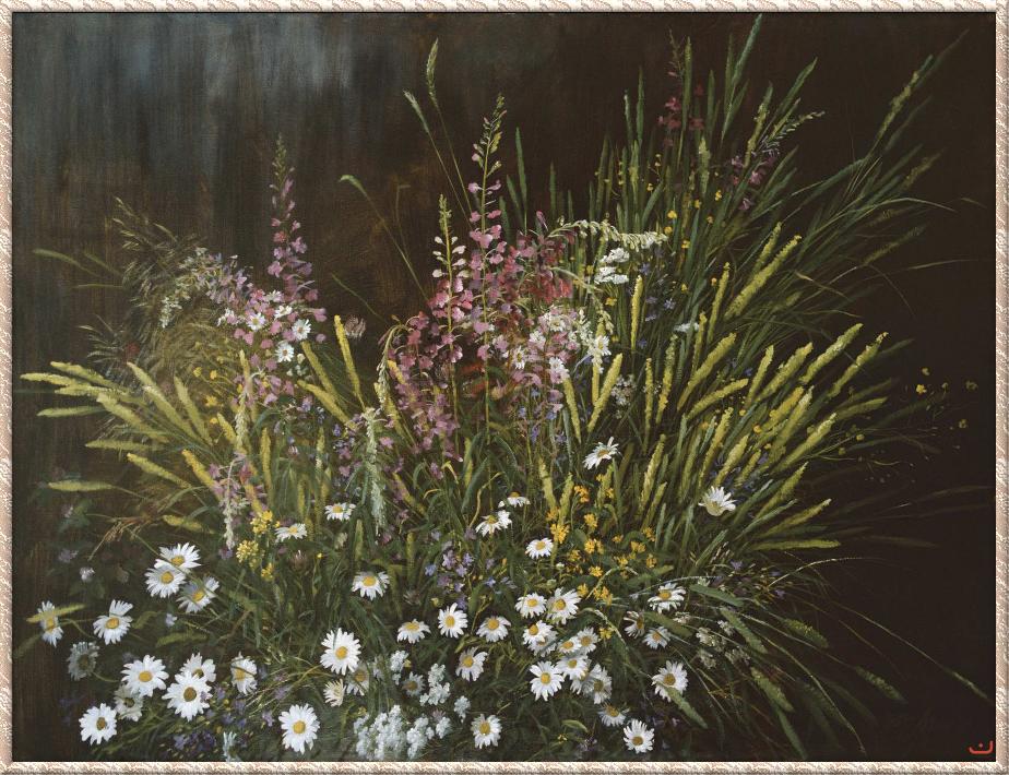 Особая прелесть цветов полевых -- творчество художника Юрия Арсенюка