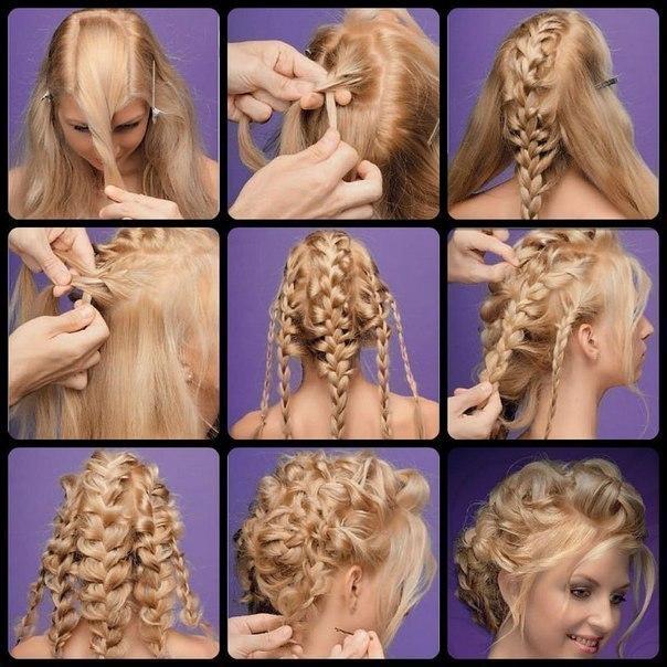Сделать прическу своими руками на длинные волосы пошагово