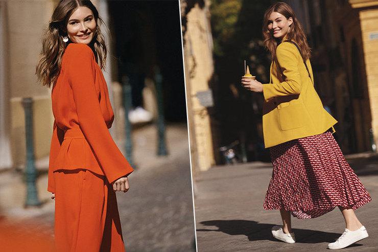 Яркие пальто икостюмы вновой коллекции Next