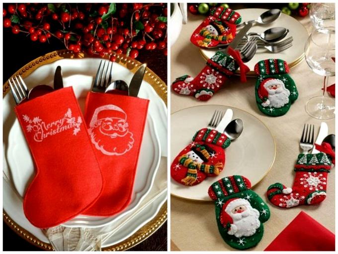 сервировка стола новогоднего фото