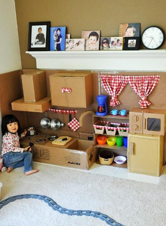 Как сделать мебель из картонной коробки