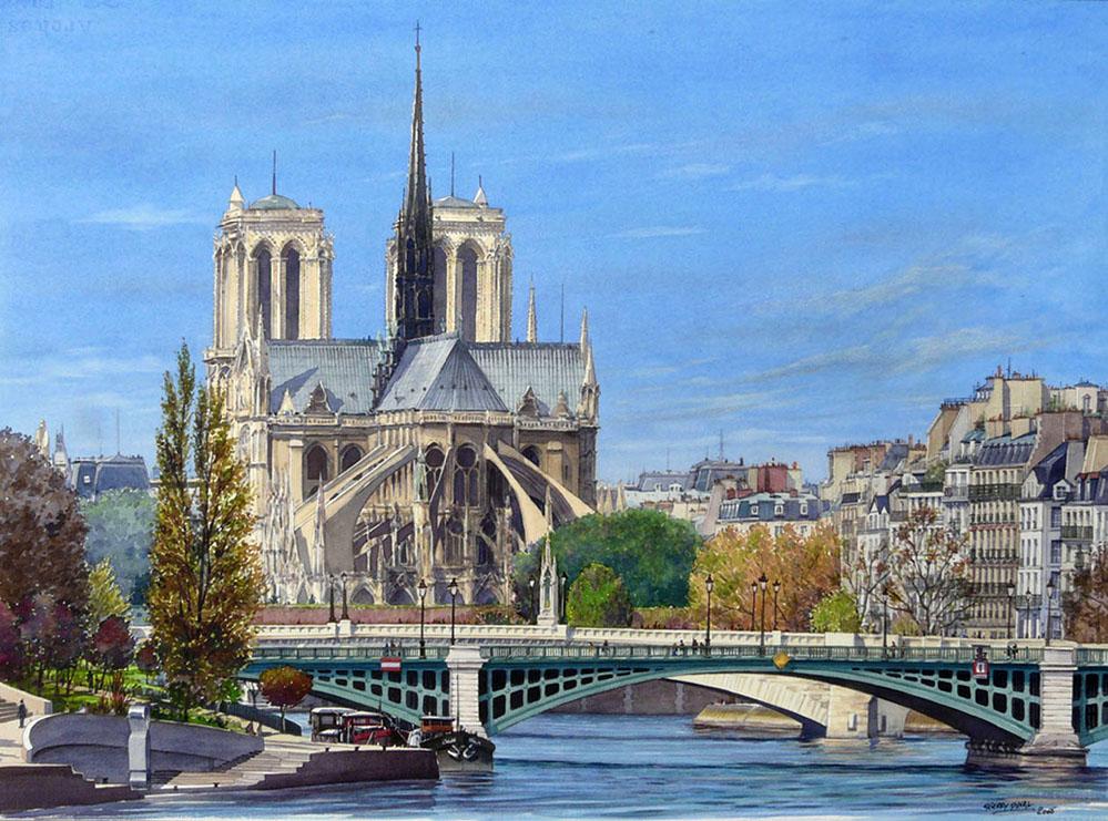 Очарование Парижа в акварелях Тьерри Дюваля