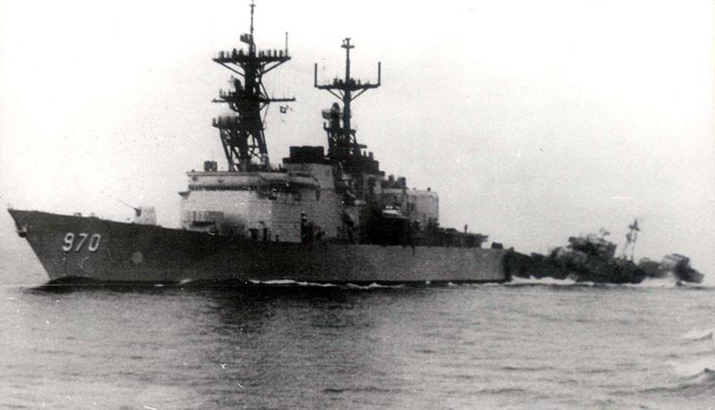 """Атака """"Беззаветным"""" американского крейсера возле мыса Сарыч в 1988 г."""