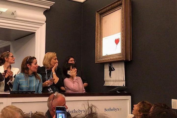 Изрезанную картину Бэнкси продали как новый арт-объект