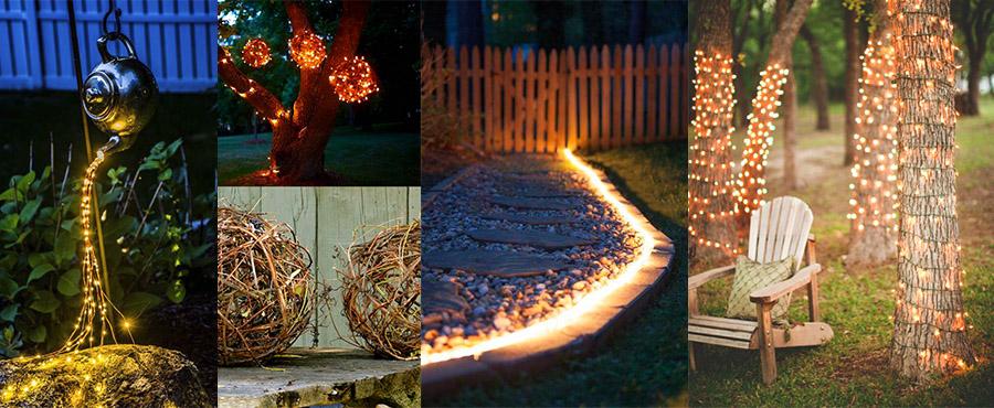 18 Потрясающих примеров освещения в саду и дворе
