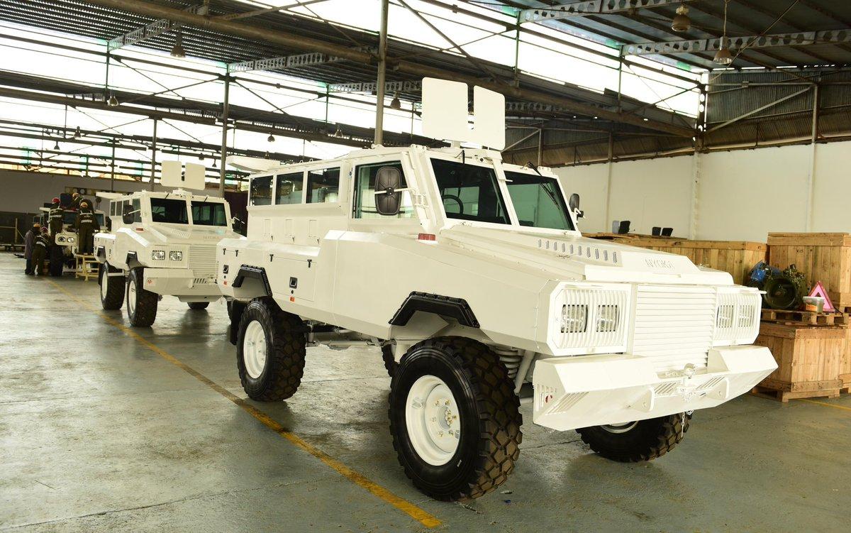 Сборка бронированных машин Nyoka в Уганде