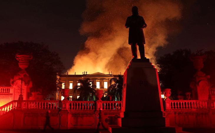 Как горел Национальный музей Бразилии