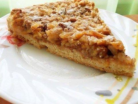 Венгерский ореховый пирог с яблоками. Простой и очень вкусный