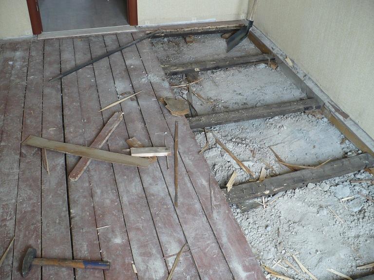 Заливка бетонной стяжки на д…