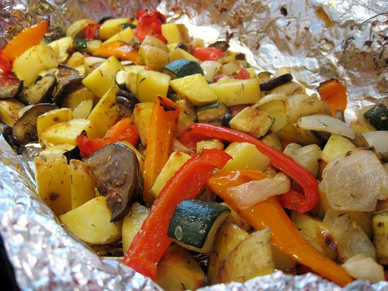 Запеченные овощи в маринаде:…