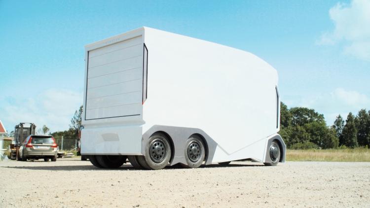 Шведы создали электрогрузовик без кабины и водителя