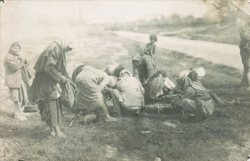 12. Армянские беженцы в Хуране, Сирия, обгладывают труп верблюда век, мир, прошлое, снимок, событие, странность, фотография