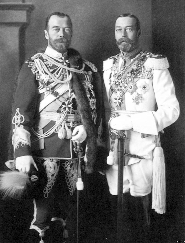 Царь России Николай II и король Англии Георг V