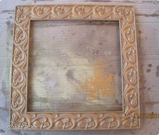 Рамочка из потолочного плинтуса. 15403