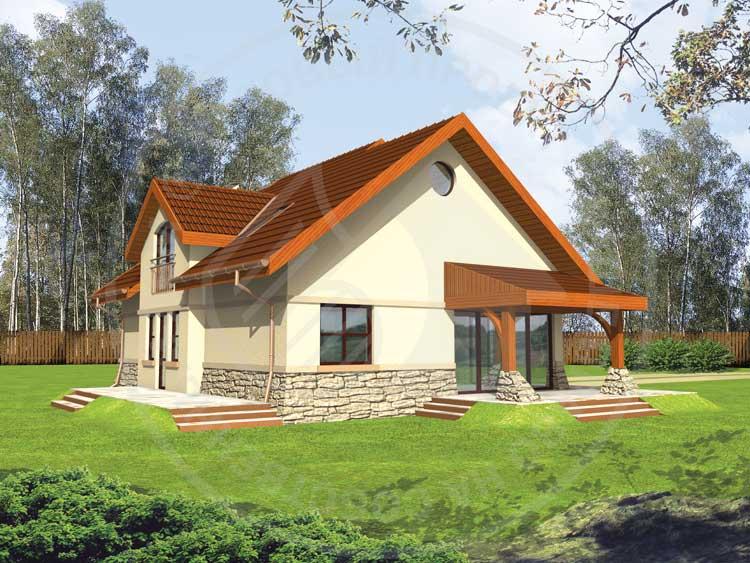 homeplans.ru - Елена - уютный дом с террасой