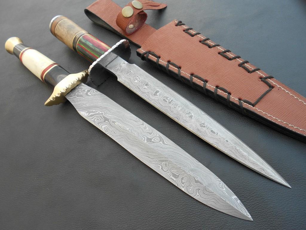 knifeua.com - Нож для охоты и рыбалки из дамасской стали Украина