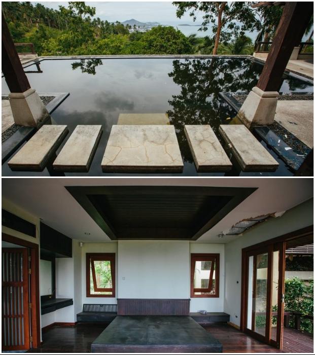 Некогда роскошная вилла Luxury Villa теряет свою красоту, но отдыхать «дикарями» еще можно (о. Самуи, Таиланд).