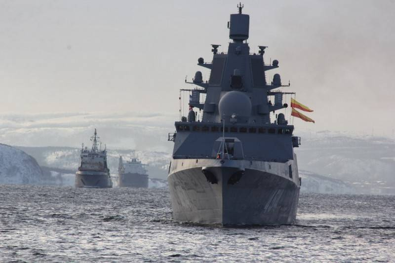 """Отряд кораблей СФ во главе с фрегатом """"Адмирал Горшков"""" отправился в поход"""