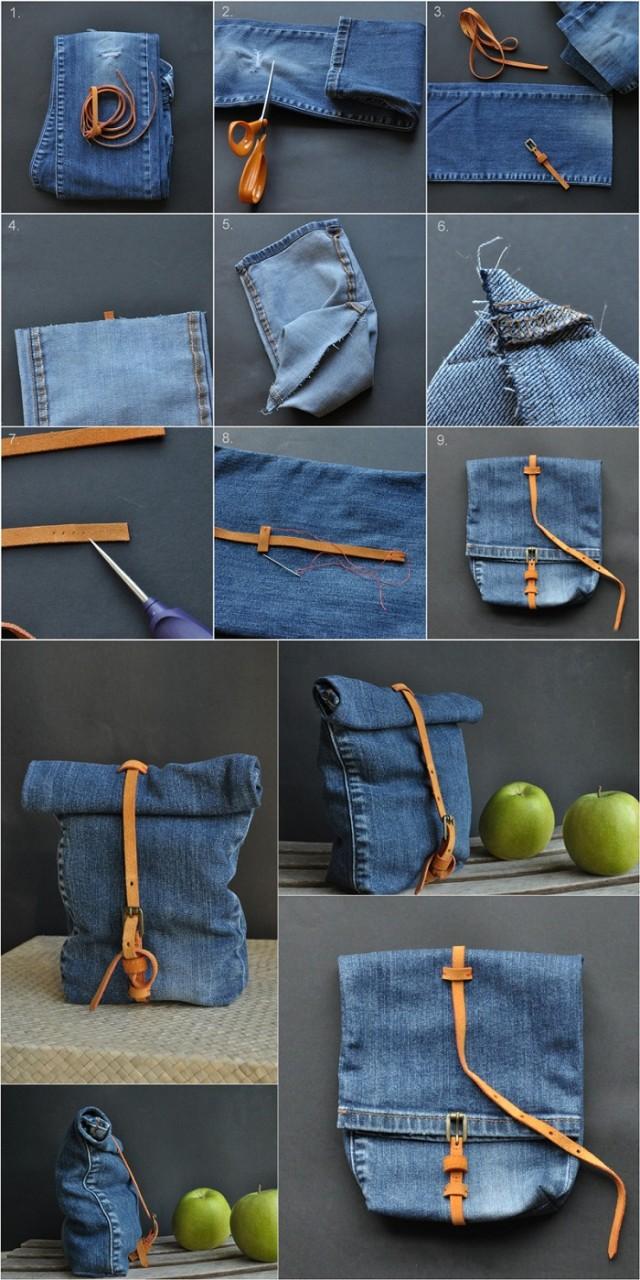 Посмотри, что эта умелица делает со старыми джинсами… Не выбрасывать же такую находку!
