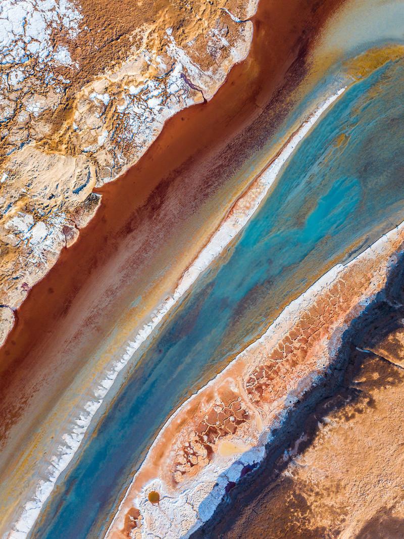 Красная артерия, синяя вена Израиль, игра красок, красота, мертвое море, пейзажи, с высоты птичьего полета, фото, фотогра
