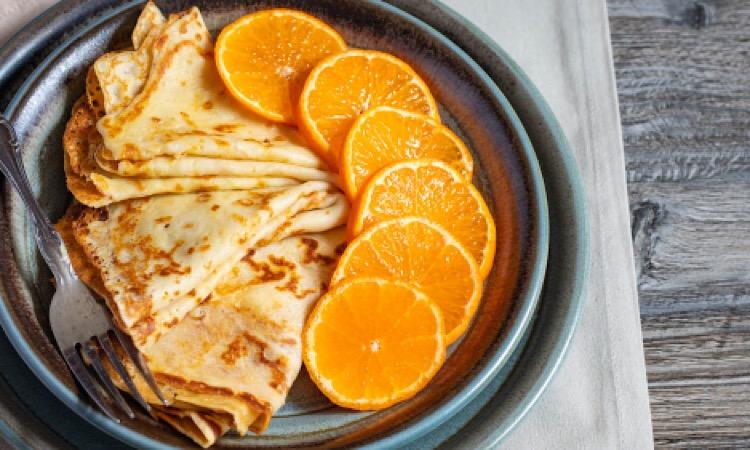 Восхитительные блины с мандаринами