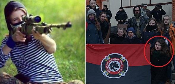 Жена украинского диверсанта удалила свое фото свинтовкой
