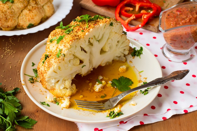 готовить цветную капусту в духовке
