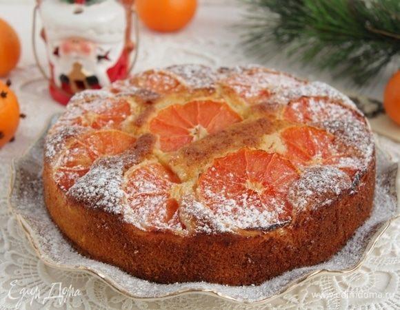 Кекс с красными апельсинами