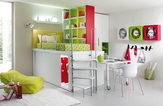 Как сэкономить место в детской комнате