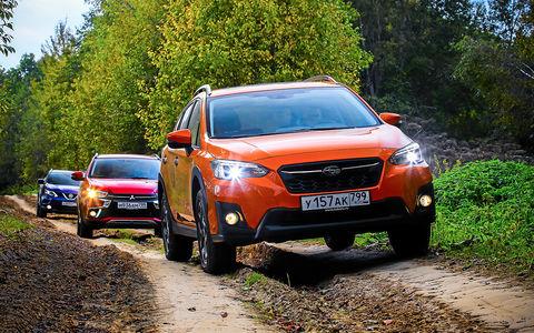 Новый Subaru XV против Nissan Qashqai и Mitsubishi ASX - большой тест ЗР