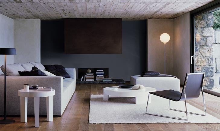 Минималистичный интерьер гостиной в коричневых тонах гостиная Интерьеры жилых и частных домов Интерьеры домов и зданий - фото Га