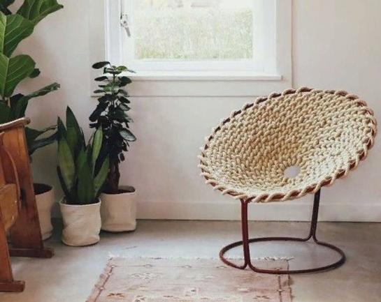 Джутовое кресло