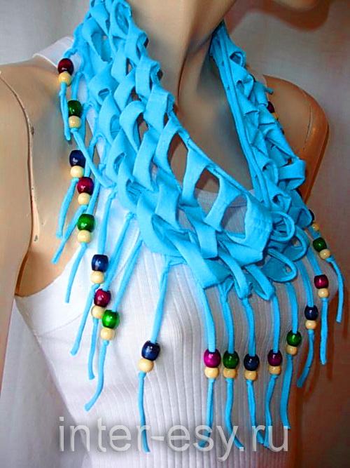 Украшение для свитера своими руками аппликация бусы платок