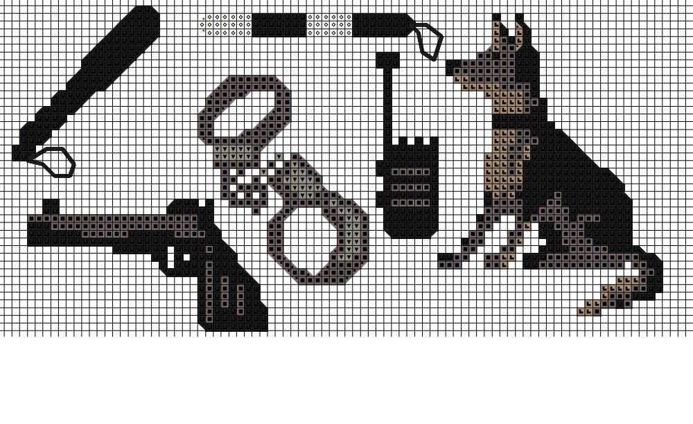 Схемы вышивки полиция