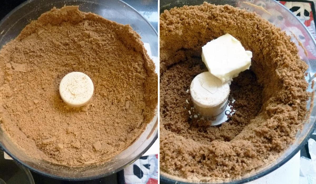 Тыквенный чизкейк сливочным, традиционно, отлично, желатин, маслом, сахара, смешайте, смесь, часовПеред, минимум, холодильник, Поставьте, песочный, вылейте, перемешайте, Добавьте, экстракта, ванильного, сыром, Затем