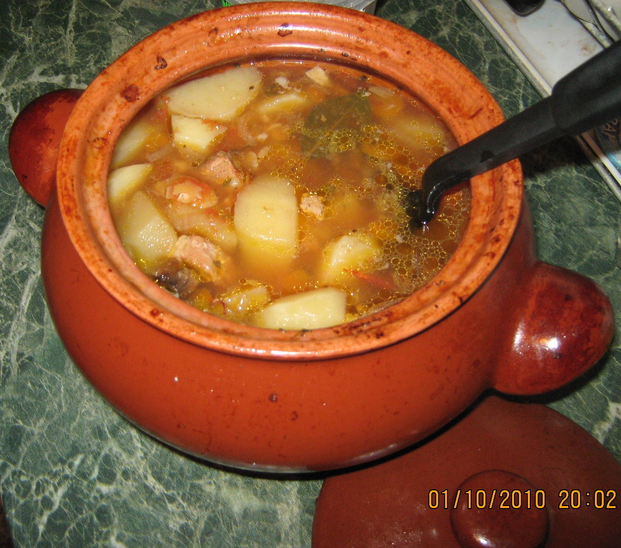 Суп в горшочке в духовке рецепт свинина пошагово