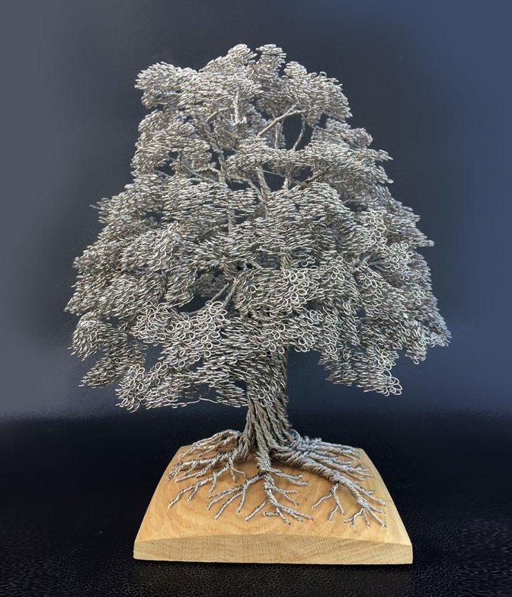 скульптуры деревьев из проволоки клайв мэдиссон (3)