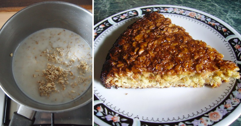 Овсяный пирог
