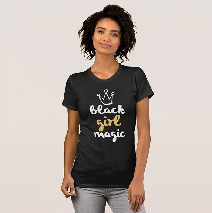 Company Uses White Models To Sell 'black Girl Magic' T-Shirts, And ... Company Uses White Models To Sell 'Black Girl Magic' T-Shirts, And ... Blouses and Tops black woman t shirt
