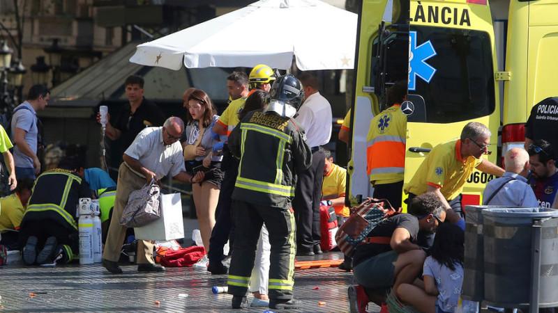 В Барселоне теракт, пока известно о 13 погибших