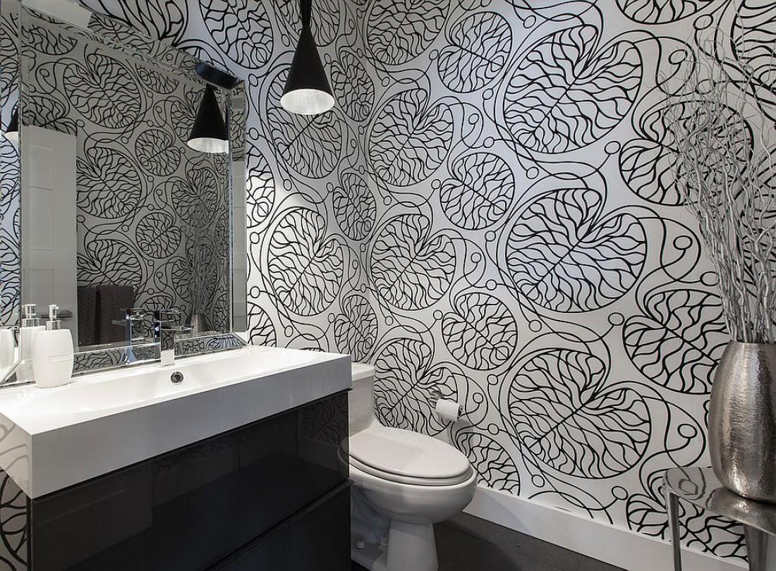 Всегда в тренде: черно-белые ванные комнаты