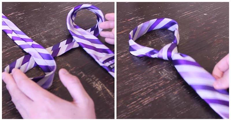 С помощью этого трюка вы завяжите галстук за считанные секунды